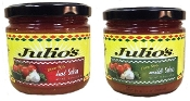 6 Hot 6 Mild Julios Glass Jar Salsa